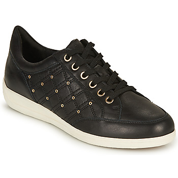 Shoes Women Low top trainers Geox D MYRIA H Black