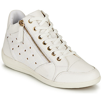 Shoes Women High top trainers Geox D MYRIA G White