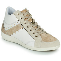 Shoes Women High top trainers Geox D MYRIA G White / Beige