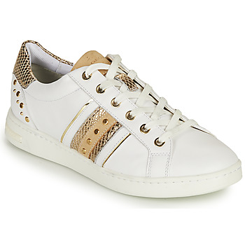 Shoes Women Low top trainers Geox D JAYSEN A White / Gold