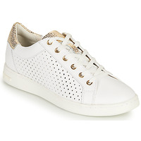 Shoes Women Low top trainers Geox D JAYSEN B White / Gold