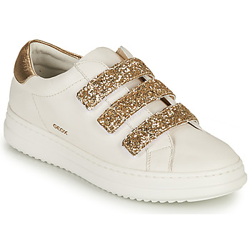 Shoes Women Low top trainers Geox D PONTOISE C White / Gold