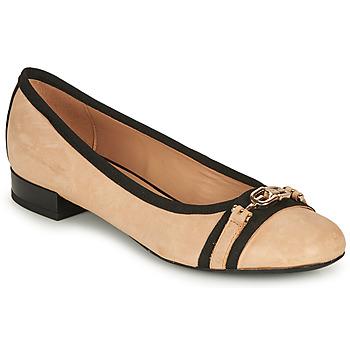 Shoes Women Ballerinas Geox D WISTREY D Beige / Black
