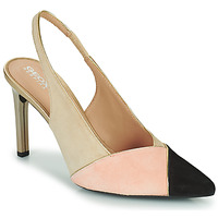 Shoes Women Court shoes Geox D FAVIOLA A Beige / Pink / Black