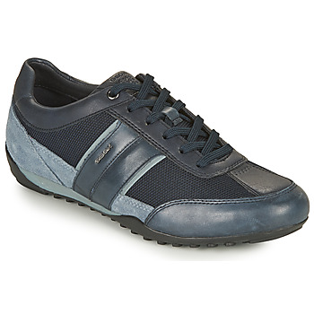 Shoes Men Low top trainers Geox U WELLS C Marine