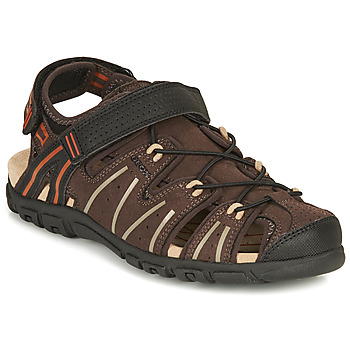 Shoes Men Sports sandals Geox UOMO SANDAL STRADA A Brown / Black / Orange