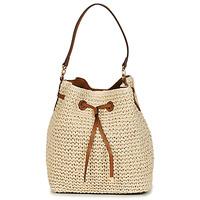 Bags Women Shoulder bags Lauren Ralph Lauren DEBBY CROCHET STRAW Beige / Cognac