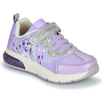 Shoes Girl Low top trainers Geox SPACECLUB GIRL Violet
