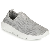 Shoes Girl Slip ons Geox ARIL GIRL Grey