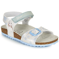Shoes Girl Sandals Geox ADRIEL GIRL White / Blue