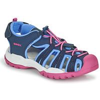 Shoes Girl Sports sandals Geox BOREALIS GIRL Blue / Pink