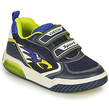 Shoes Boy Low top trainers Geox INEK BOY Marine / Yellow