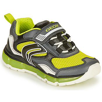 Shoes Boy Low top trainers Geox ANDROID BOY Grey / Lime