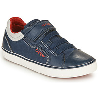 Shoes Boy Low top trainers Geox GISLI BOY Marine / Red