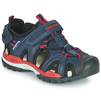 Shoes Boy Sports sandals Geox BOREALIS BOY Marine / Red