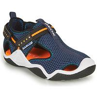 Shoes Boy Sports sandals Geox JR WADER Marine / Orange