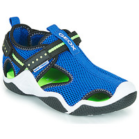 Shoes Boy Sports sandals Geox JR WADER Blue / Green