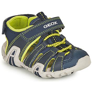 Shoes Boy Sports sandals Geox SANDAL KRAZE Marine / Lime