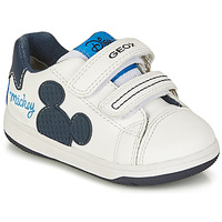 Shoes Boy Low top trainers Geox NEW FLICK BOY White / Blue