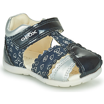 Shoes Girl Sandals Geox ELTHAN GIRL Marine / Silver