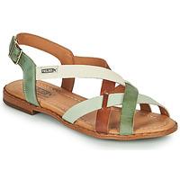 Shoes Women Sandals Pikolinos ALGAR W0X Brown / Green