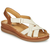 Shoes Women Sandals Pikolinos CADAQUES W8K White / Brown