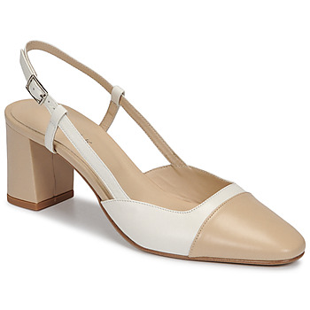Shoes Women Court shoes Jonak DHAPOP Beige / White