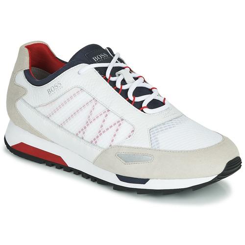 Shoes Men Low top trainers BOSS PARKOUR RUNN NET2 White