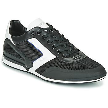 Shoes Men Low top trainers BOSS Saturn_Lowp_me 10230782 Black