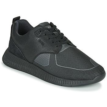 Shoes Men Low top trainers BOSS Titanium_Runn_tbjq 10232903 Black