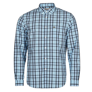 material Men long-sleeved shirts Lacoste BANNA Blue