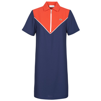 material Women Short Dresses Lacoste FRITTI Red / Blue