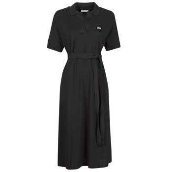 material Women Long Dresses Lacoste KONNI Black