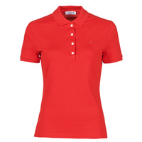 material Women short-sleeved polo shirts Lacoste POLO SLIM FIT Red