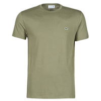 material Men short-sleeved t-shirts Lacoste ALFED Kaki