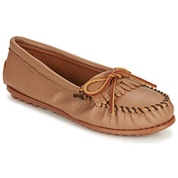 Shoes Women Loafers Minnetonka DEERSKIN KILTY Beige
