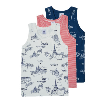 material Boy Tops / Sleeveless T-shirts Petit Bateau HULLO Multicolour