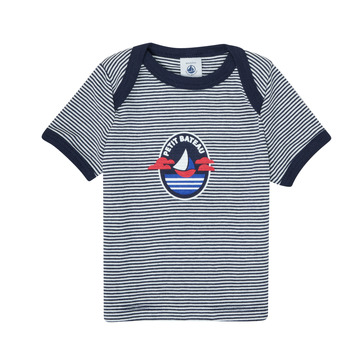 material Boy short-sleeved t-shirts Petit Bateau MENHIR White