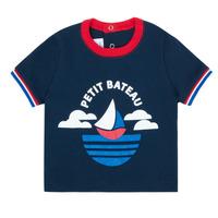 material Boy short-sleeved t-shirts Petit Bateau MENU Marine