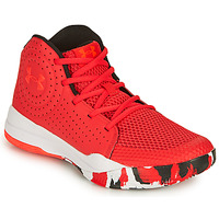 Shoes Children Basketball shoes Under Armour GS JET 2019 Red