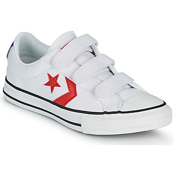 Shoes Boy Low top trainers Converse STAR PLAYER 3V VARSITY CANVAS OX White / Red