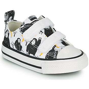 Shoes Children Low top trainers Converse CHUCK TAYLOR ALL STAR 2V GOING BANANAS OX White / Multicolour