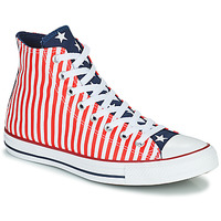 Shoes Men High top trainers Converse CHUCK TAYLOR ALL STAR STARS & STRIPES HI White / Red / Blue