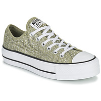 Shoes Women Low top trainers Converse CHUCK TAYLOR ALL STAR LIFT BREATHABLE OX Kaki