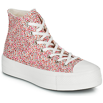 Shoes Women High top trainers Converse CHUCK TAYLOR ALL STAR LIFT VINTAGE FLORAL HI Multicolour