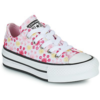 Shoes Girl Low top trainers Converse CHUCK TAYLOR ALL STAR EVA LIFT CANVAS BRODERIE OX White / Pink