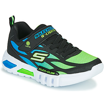 Shoes Boy Low top trainers Skechers FLEX-GLOW Black / Blue / Green