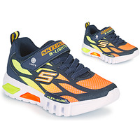 Shoes Boy Low top trainers Skechers FLEX-GLOW Marine / Orange
