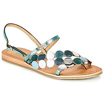 Shoes Women Sandals Les Tropéziennes par M Belarbi HOLO Silver / Blue