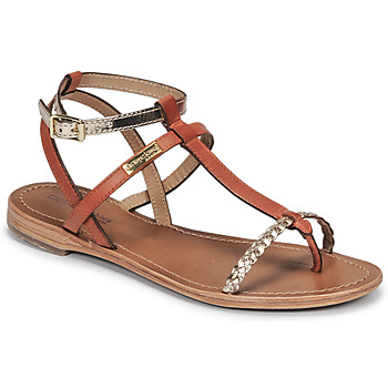 Shoes Women Sandals Les Tropéziennes par M Belarbi HILATRES Orange / Gold